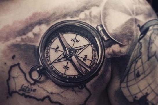 Le Tatouage Est Une Boussole De Couleur Quelle Est La Signification